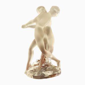 Vintage Figur aus Kristallglas von René Lalique