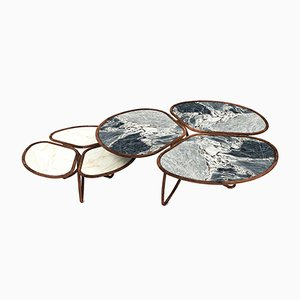 Roatan Coffee Tables from Alma de Luce, Set of 2