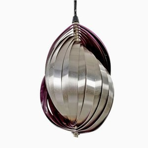 Vintage Conch Pendant Lamp by Henri Mathieu