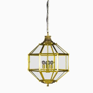 Lampada da soffitto vintage in ottone, anni '70