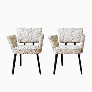 Französische Mid-Century Stühle, 2er Set