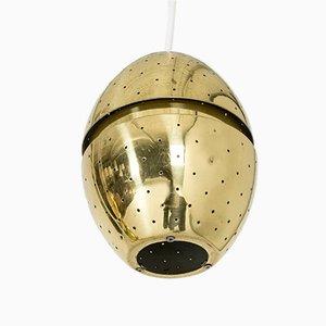 Lámpara colgante de latón de Hans-Agne Jakobsson, años 60