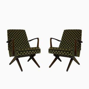 Deutsche Vintage Sessel, 1950er, 2er Set