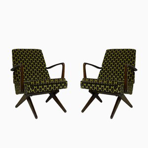 Mid Century Elevator Cocktail Chairs, 1950er, 2er Set