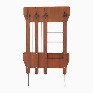 Italienische Garderobe aus Teak & Eisen, 1950er