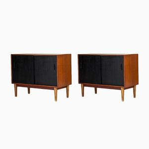 Mid-Century Swedish Teak Sideboards, 1950s, Set of 2