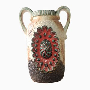 Vintage West German Ceramic Vase from Dumler & Breiden