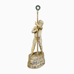 Mid-Century Cherub Garden Lamp