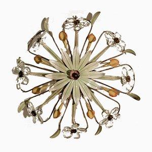 Vintage Einbaulampe in Blumen-Optik