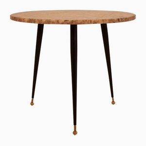 Mesa de mármol vintage redonda