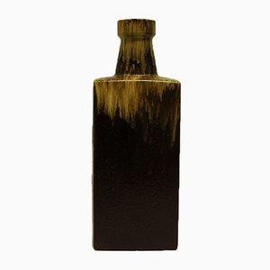 Jarrón en forma de botella de cerámica Fat Lava de Scheurich, años 70