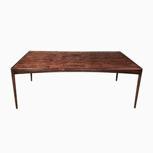 Tavolo da pranzo o scrivania in palissandro di Kristian Vedel per Søren Willadsen, anni '60