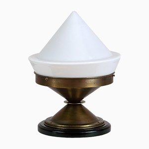 Lámpara colgante Art Déco de latón, años 30