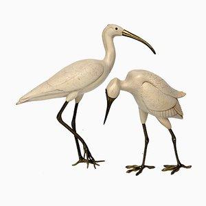 Esculturas de pájaros de latón de Elli Malevolti, años 50