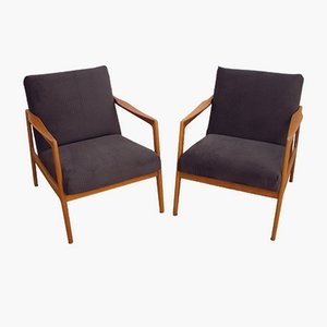 Mid-Century Danish Armchairs, 1970s, Set of 2