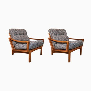 Danish Teak Easy Chairs from Glostrup, 1960s, Set of 2