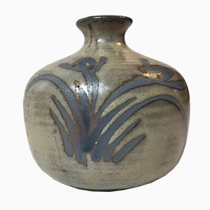 Skandinavische Mid-Century Keramikvase, 1960er