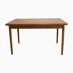 Mid-Century Teak Extendable Dining Table from Ansager Mobler