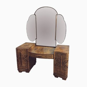Art Deco Dressing Table with Cloud Shaped Mirror, 1920s