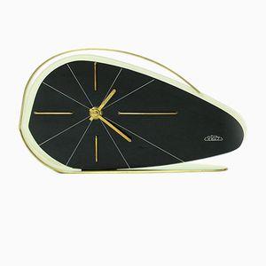 Schwarze tschechoslowakische Uhr von Prim, 1950er