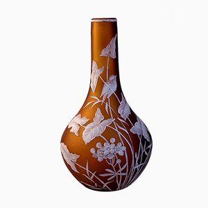 Vase Floral Vintage par Thomas Webb
