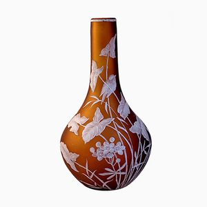 Vintage Flower Vase by Thomas Webb