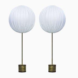 Lámparas de pie G123/600 de Hans Agne Jakobsson, años 60. Juego de 2