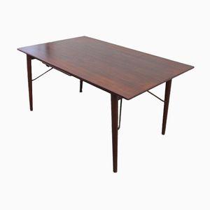 Teak & Brass Dining Table by Peter Hvidt & Orla Mølgaard Nielsen for Søborg, 1950s