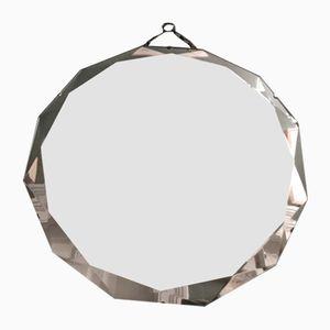 Art Deco 12-Sided Diamond Cut Beveled Mirror
