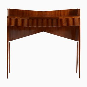 Mid-Century Italian Console with Drawer and Slender Legs, 1950s