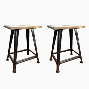 4-Legged Stools by Robert Wagner for Rowac, 1930s, Set of 2