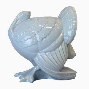 Escultura de pavo Art Déco de Lemanceau