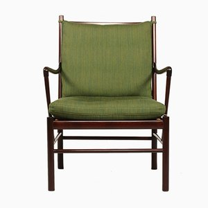 Vintage Danish Mahogany Easy Chair by Ole Wanscher for Poul Jeppesen