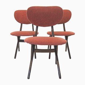 Sedie a forbice di Louis van Teeffelen per WéBé, anni '60, set di 3