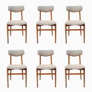 Massive Holzstühle, 1960er, 6er Set