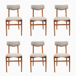 Solid Wood Chairs, 1960s, Set of 6