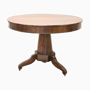 Antique Walnut Round Table, 1810s