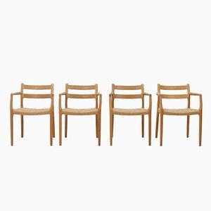 Nr. 67 Stühle aus Eiche von Niels Otto Moller und Heinrich Möller, 1970er, 4er Set