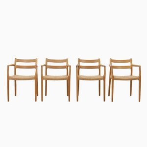 Oak No. 67 Chairs by Niels Otto Moller and Heinrich Möller, 1970s, Set of 4