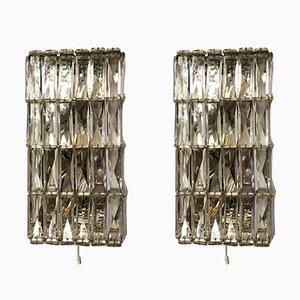 Applique in cristallo di Bakalowits & Söhne, Austria, anni '60, set di 2