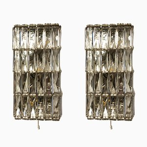 Austrian Crystal Sconces by Bakalowits & Söhne, 1960s, Set of 2