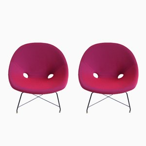 Cosmos Lounge Chairs by Augusto Bozzi for Saporiti Italia, 1954, Set of 2