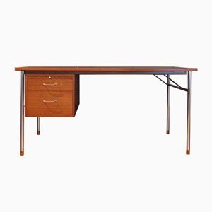 Teak Desk by Aksel Bender Madsen & Ejner Larsen for Neastved Mobelfabrik, 1950s