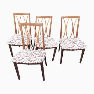 Esszimmerstühle aus Teak für G-plan, 1970er, 4er Set