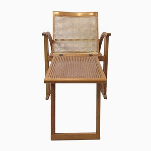 Vintage French Reclining Armchair by Pascal Mourgue for Triconfort
