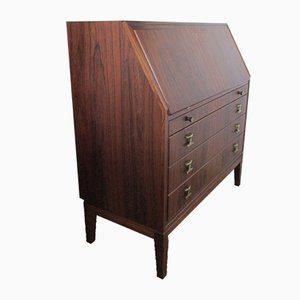 Scandinavian Secretaire with Brass, 1970s