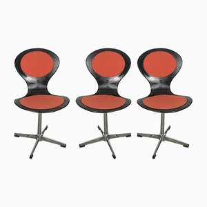 Space Age Swivelling Chairs, 1970s, Set of 3