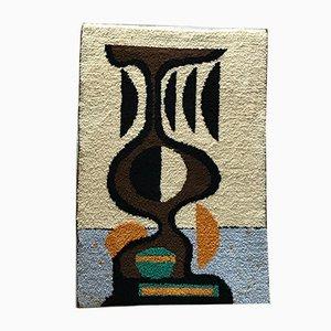 Alfombra decorativa de pared, años 60