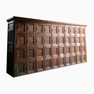 Antique French Pine Bank Of Drawers, 1870s