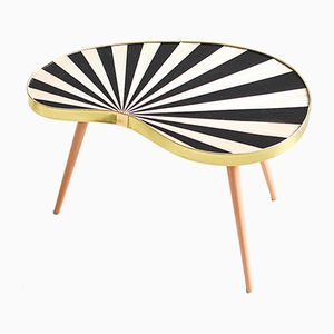 Table à Rayures Mid-Century, 1960s